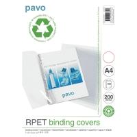 Pack de 100 cubiertas recicladas Pavo 200micras A4 transparante