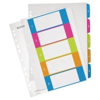 Indice LEITZ Wow de 5 separadores imprimibles A4+ polipropileno