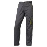 DELTAPLUS PANOSTYLE M6PAN Pracovné nohavice, veľkosť XXL, farba šedá/zelená