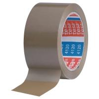 LOT DE 6 RUBANS ADHESIFS D EMBALLAGE PVC TESAPACK 4120 50MMX100M HAVANE