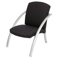 Alba Nova bezoekersstoel - zwart