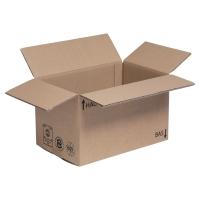 Amerikaanse doos kraft enkele golf 350 x 230 x 250 - pak van 25