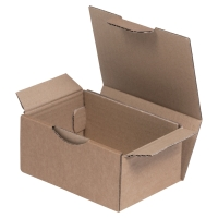 Karton wysyłkowy, wymiary w mm: dł. 250 x szer. 150 x wys. 100, brąz, 50 sztuk