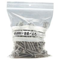Pack de 100 bolsa minigrip con etiqueta de 50 micras 80x120 mm
