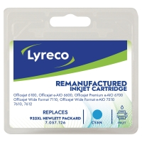 Lyreco compatibele HP CN046A inktcartridge nr.933XL blauw HC [825 pag]