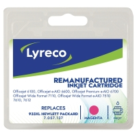 Lyreco compatibele HP CN047A inktcartridge nr.933XL rood high capacity [825 pag]