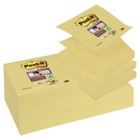 Pack de 12 Post-it Super Sticky Z-notes 76x76 mm color amarillo
