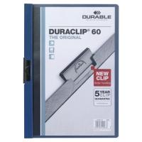 Durable 2209 Duraclip klemmap A4 PVC 60 vel donkerblauw