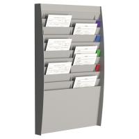 Półka ścienna PAPERFLOW, 2 x 10 kieszeni A4