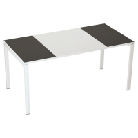 Mesa de melamina PAPERFLOW Easy Desk color negro/blanco dimensiones 160 x 80 cm