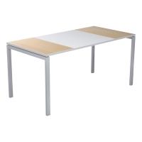 Mesa de melamina PAPERFLOW Easy Desk color haya/blanco dimensiones 160 x 80 cm