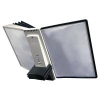 Durable 585501 Sherpa Style set d extension 10 panneaux noir/gris - paquet de 10