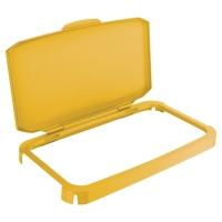 Tapa abatible de contenedor DURABIN en color amarillo 60l