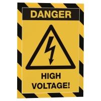 DURABLE DURAFRAME Magnetický rámik na bezpečnostné oznamy A4 čierna/žltá, 5 ks