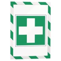 DURABLE DURAFRAME Magnetický rámik na bezpečnostné oznamy A4 zelená/biela, 5 ks