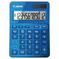 Calculadora de sobremesa CANON LS-123K de 12 dígitos color azul metálico
