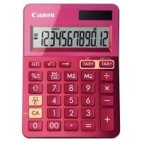Calculadora de sobremesa CANON LS-123K de 12 dígitos color fucsia metálico