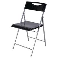 Chaise pliante Alba Smile - noir