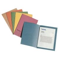 Pack de 100 subcarpetas folio cartulina azul 250g LYRECO