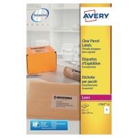 Avery L7567 transparante etiketten 210x297mm - doos van 25