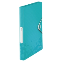 LEITZ NEXXT SERIES WOW PLASTIC BOX FILE WITH CLIP ICE BLUE
