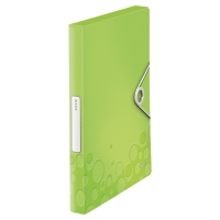 LEITZ NEXXT SERIES WOW PLASTIC BOX FILE WITH CLIP GREEN