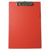 Base de PVC con clip metálico dimensiones 230x340mm Color rojo