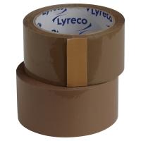PAKETTEJP LYRECO PP 50 MM X 66 M BRUN 6 RULLAR/FP