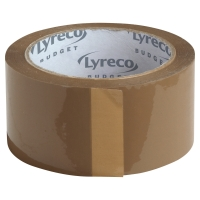 Lyreco Budget verpakkingstapes 50mmx66m PP capaciteit 20kg bruin - doos van 6