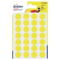 Avery PSA15J gekleurde kantooretiketten 15mm geel - pak van 168