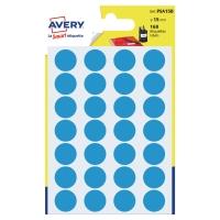 Avery PSA15B gekleurde kantooretiketten 15mm blauw - pak van 168