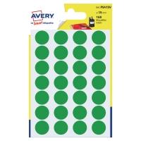 Farebné etikety Avery, Ø 15, zelená fraba, 168 etikiet/balenie