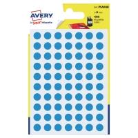 Avery PSA08B gekleurde kantooretiketten 8mm blauw - pak van 490