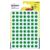 Avery PSA08V gekleurde kantooretiketten 8mm groen - pak van 490