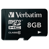 Micro SDHC Speicherkarte Verbatim, Class 10, 8 GB