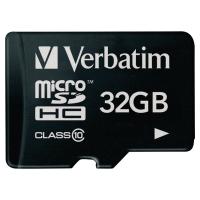 Tarjeta de memoria VERBATIM MicroSDHC de 32 Gb