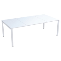 Mesa de melamina PAPERFLOW Easy Desk color blanco dimensiones 2200x1140x750mm
