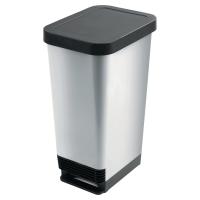 Odpadkový kôš CEP s pedálom 45 l, šedý