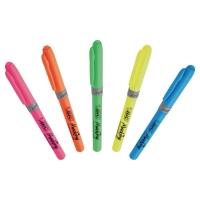 Zakreślacz BIC Highlighter Grip, Zestaw 5 kolorów