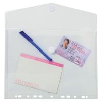 Exacompta geperforeerde enveloppen PP A4 transparant - pak van 5
