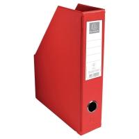 PORTE-REVUES PVC PLIABLE FORMAT A4 PVC 20/100EME EXACOMPTA 7CM ROUGE