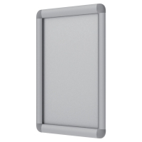 Portapóster BI-OFFICE SnapFrame A3 con marco plateado