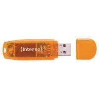 MEMORIA FLASH USB 2.0 INTENSO RAINBOW DE 64GB DE COLOR NARANJA