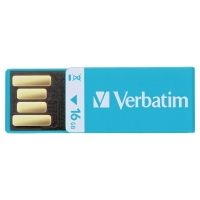 Verbatim USB kľúč CLIP-IT, modrý, 16 GB
