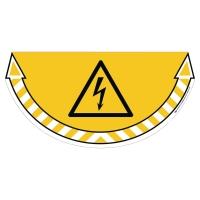CEP Take Care vloersticker hoogspanning gevaar geel