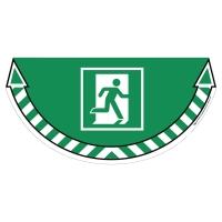 CEP Take Care vloersticker nooduitgang groen
