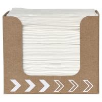 Dunisoft napkin dispenser, includes napkins, white, pack of 50