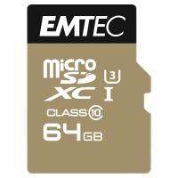 EMTEC Micro SDXC pamäťová karta 650X s adaptérom a čít ačkou, 64 GB
