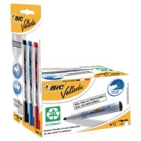 Bic Velleda Whiteboard marker zw - ds12 + Bic Velleda vloeibare inkt ass - pk3
