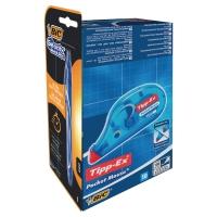 Pritt Tipp-ex Pocketmouse - doos van 10 + 8 Bic Like Me balpennen blauw